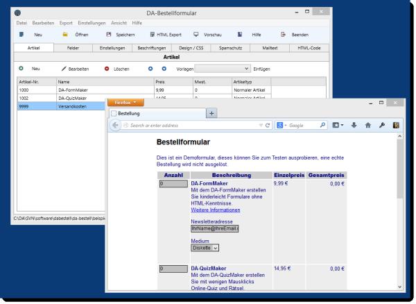 Update: DA-BestellFormular 2.0.3