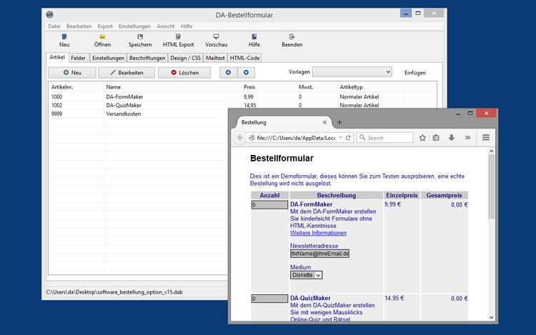 DA-BestellFormular 2.1.0 für Windows