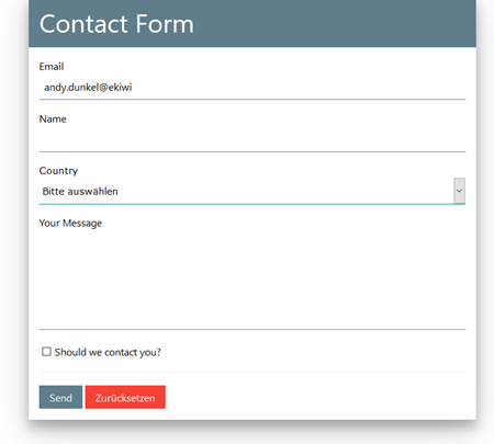 Example Responsive Form with W3.CSS