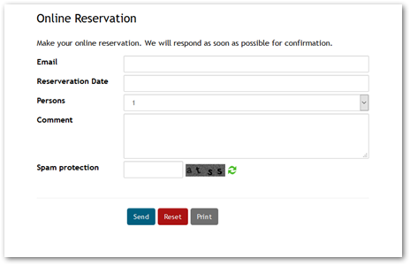 Example Responsive Bootstrap Form with Captcha