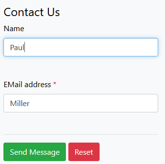 Screenshot of an online form field without border width setting
