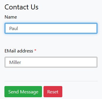 Screenshot of an online form field with border width setting